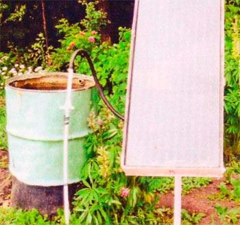 Гелиоустановка греет воду